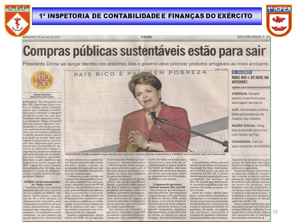 1ª INSPETORIA DE CONTABILIDADE E FINANÇAS DO EXÉRCITO 18