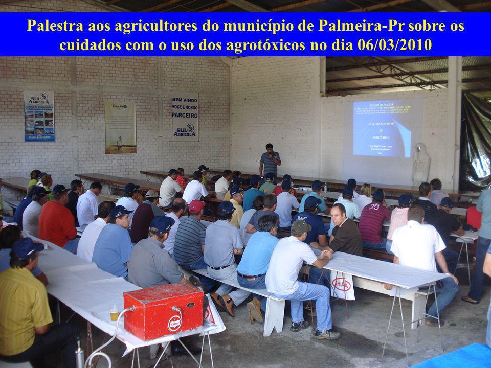 Palestra aos agricultores do município de Palmeira-Pr sobre os cuidados com o uso dos agrotóxicos no dia 06/03/2010