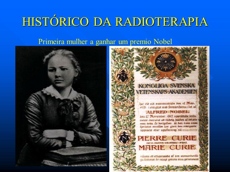 HISTÓRICO DA RADIOTERAPIA Primeira mulher a ganhar um premio Nobel
