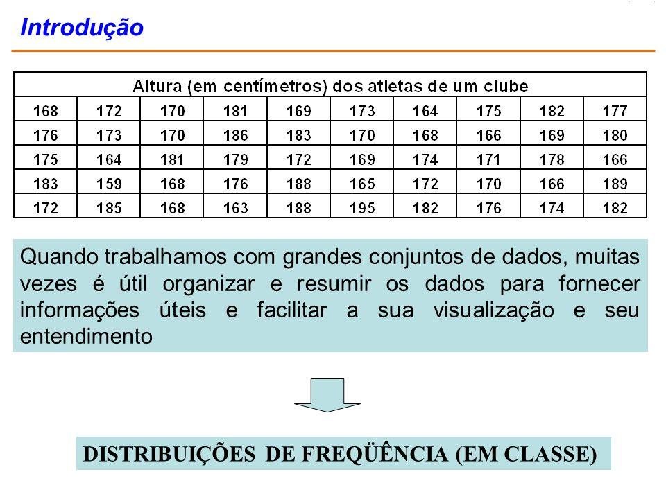 É um grupamento de dados em classes, exibindo o número ou porcentagem de observações em cada classe.