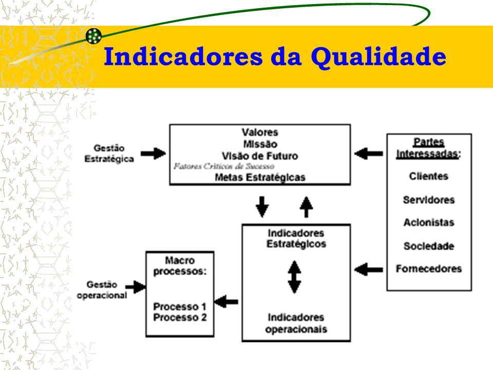 Indicadores Estratégicos Indicadores de Produtividade Indicadores de Qualidade Indicadores de Efetividade Indicadores de Capacidade Indicadores – Tipo