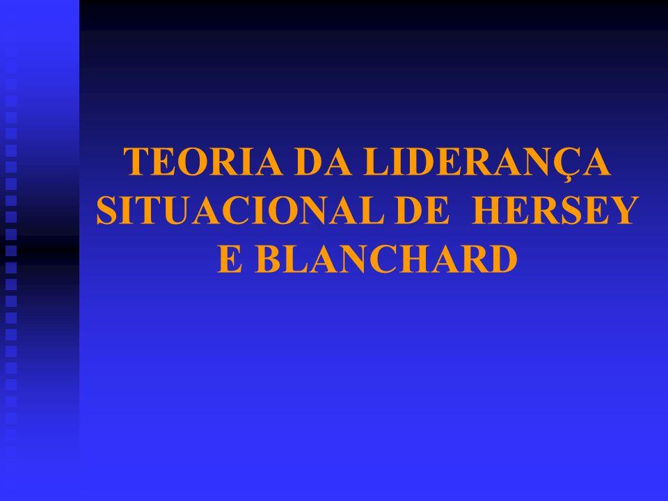TEORIA DA LIDERANÇA SITUACIONAL DE HERSEY E BLANCHARD