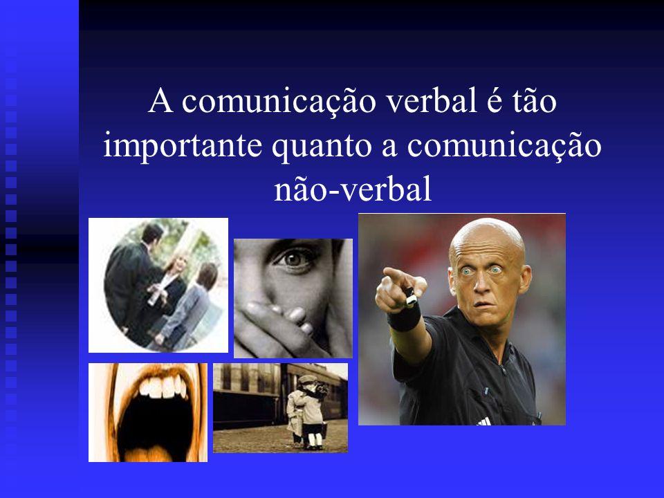 A comunicação verbal é tão importante quanto a comunicação não-verbal