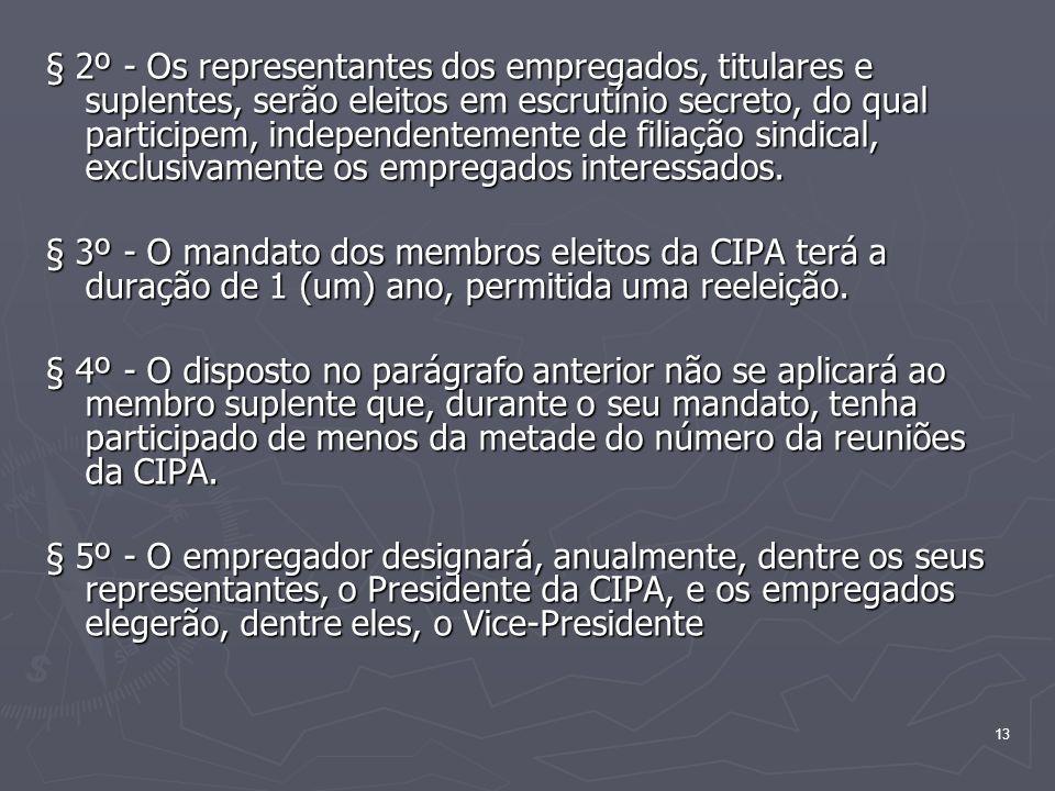 13 § 2º - Os representantes dos empregados, titulares e suplentes, serão eleitos em escrutínio secreto, do qual participem, independentemente de filia