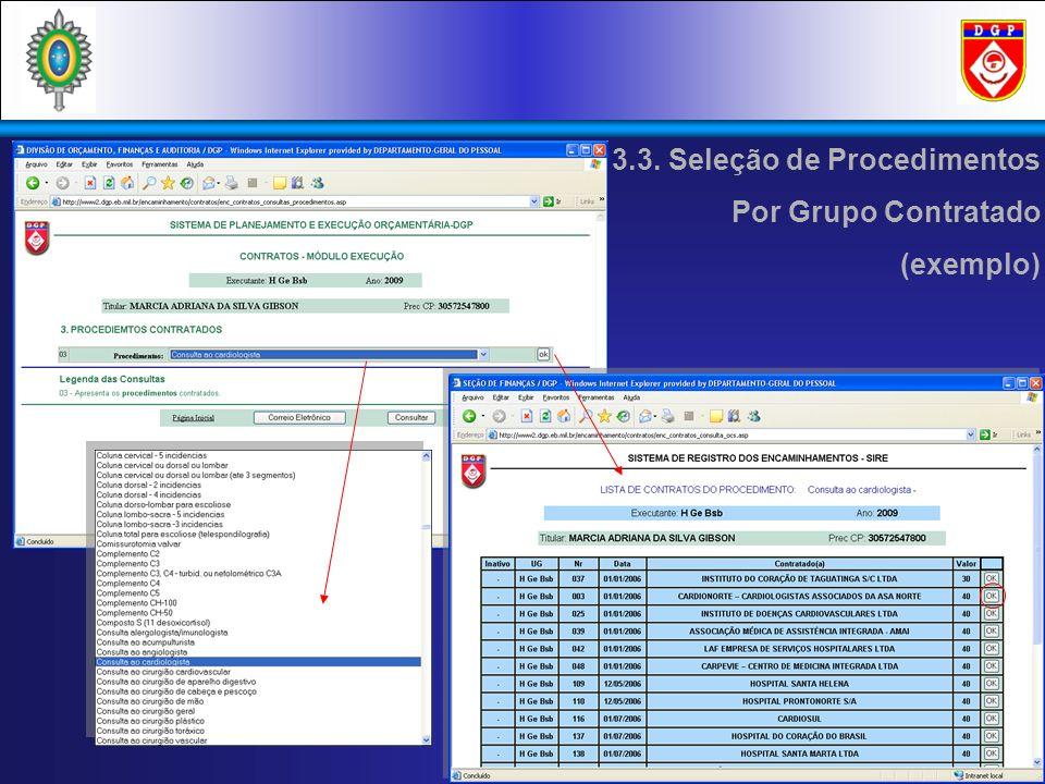 3.3. Seleção de Procedimentos Por Grupo Contratado (exemplo)