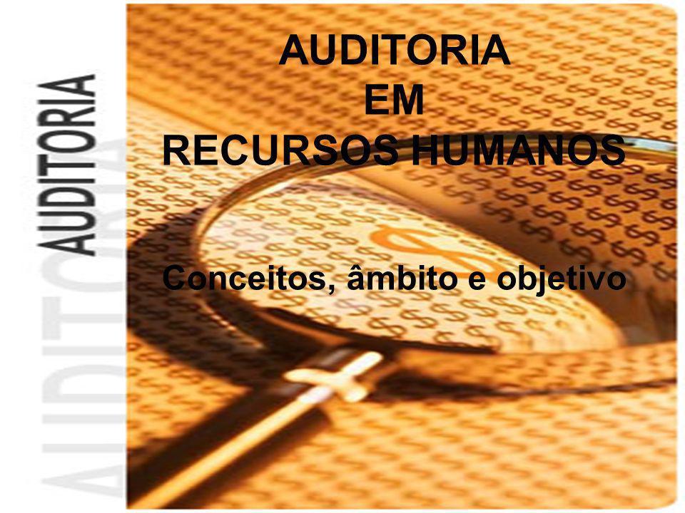AUDITORIA EM RECURSOS HUMANOS Conceitos, âmbito e objetivo