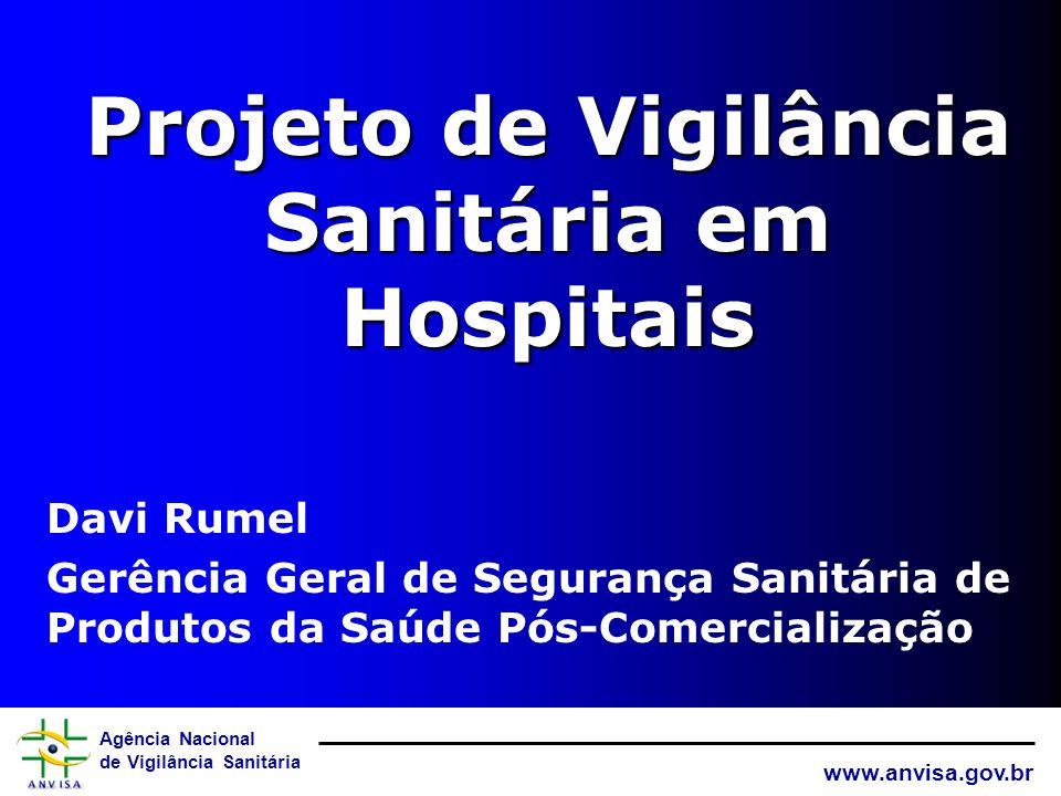 Agência Nacional de Vigilância Sanitária www.anvisa.gov.br Projeto de Vigilância Sanitária em Hospitais Davi Rumel Gerência Geral de Segurança Sanitária de Produtos da Saúde Pós-Comercialização