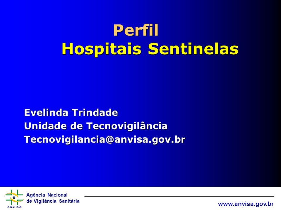 Agência Nacional de Vigilância Sanitária www.anvisa.gov.br ANVISA A inclusão de novas tecnologias em saúde cresce vertiginosamente nos hospitais do pa