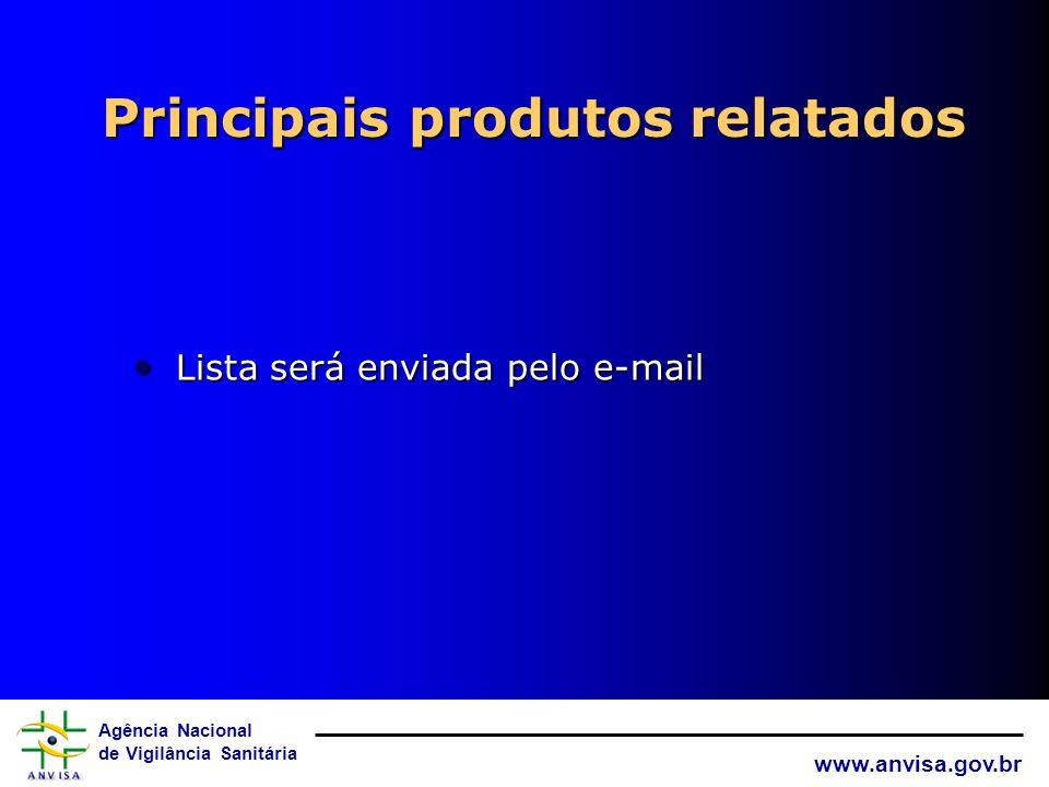 Agência Nacional de Vigilância Sanitária www.anvisa.gov.br Critérios de determinar prioridades para o estudo de produtos relatados Classificação de Ri