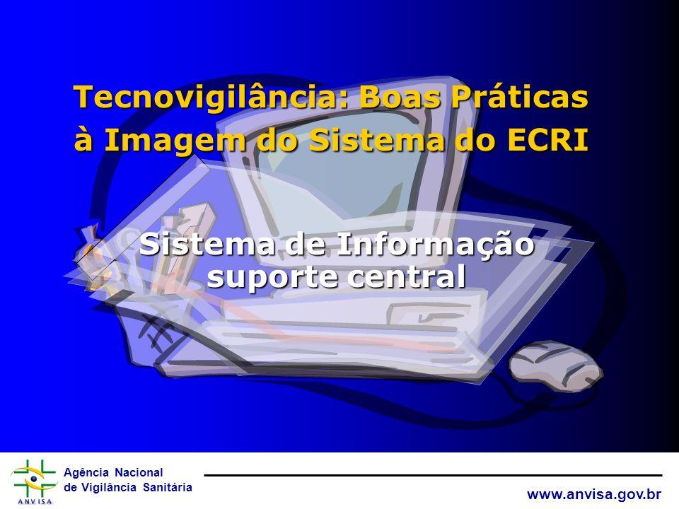 Agência Nacional de Vigilância Sanitária www.anvisa.gov.br Inspeção de Boas Práticas de Tecnovigilância ViSAs: TÓPICOS em VOTAÇÃO 4. Protocolos: Nomen