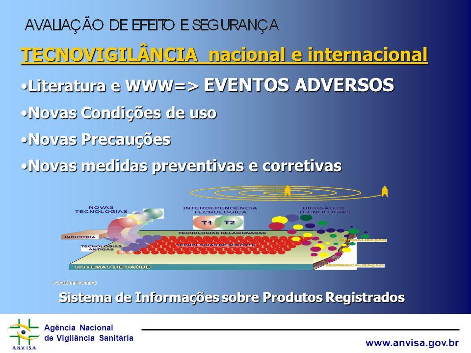 Agência Nacional de Vigilância Sanitária www.anvisa.gov.br Sistema de Informações sobre Produtos Registrados Relatório Técnico de Seguimento Relatos d