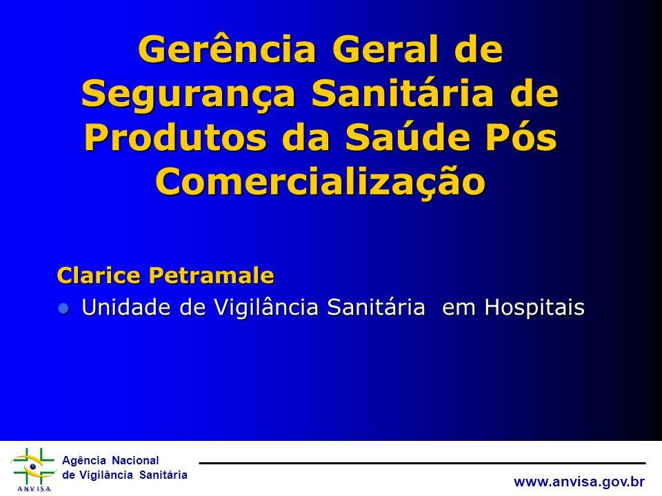 Agência Nacional de Vigilância Sanitária www.anvisa.gov.br Prevenção Desenvolver `Tecnovigilãncia em Programas do MS Notificação Hospitais Sentinela E