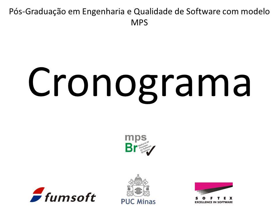 Cronograma Pós-Graduação em Engenharia e Qualidade de Software com modelo MPS