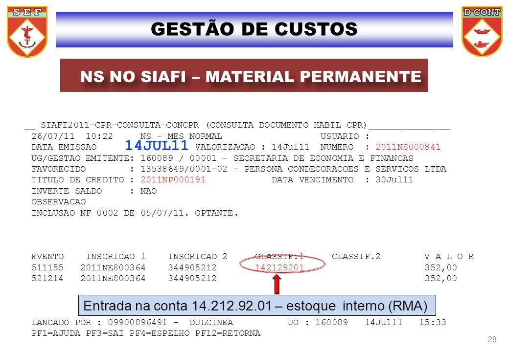 __ SIAFI2011-CPR-CONSULTA-CONCPR (CONSULTA DOCUMENTO HABIL CPR)_______________ 26/07/11 10:22 NS - MES NORMAL USUARIO : DATA EMISSAO : 14Jul11 VALORIZ