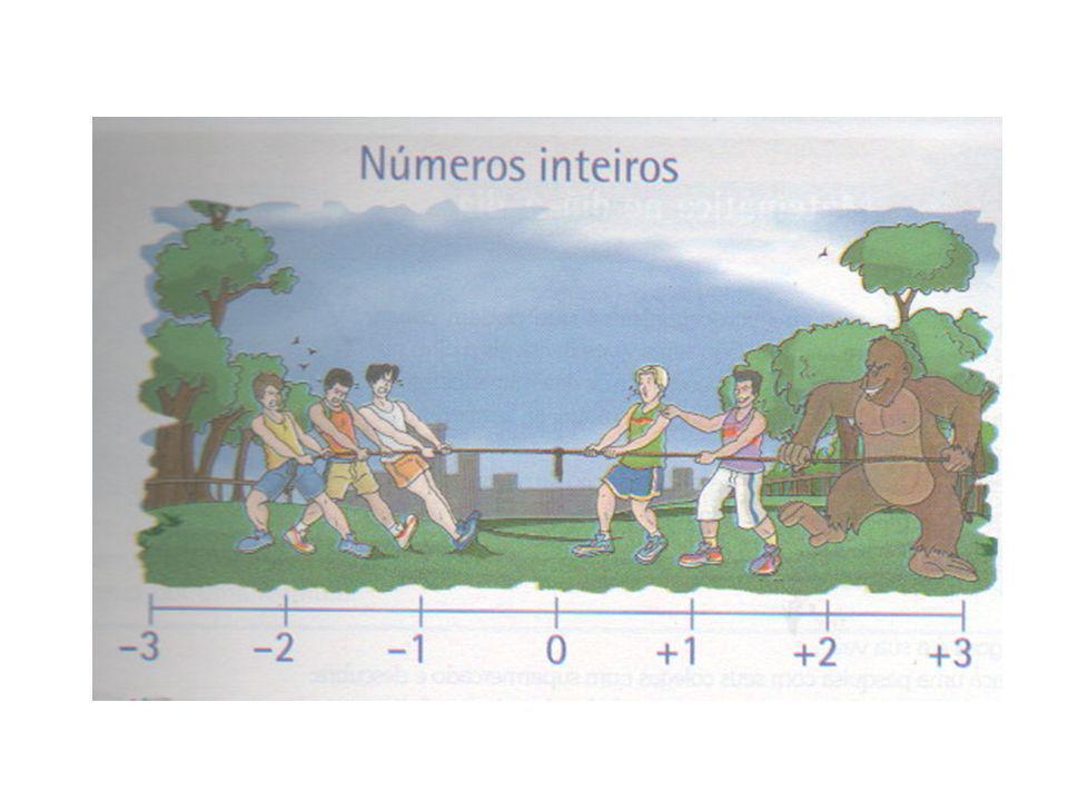 ASSUNTO 1: Números inteiros (Z) Os números inteiros positivos foram os primeiros números trabalhados pela humanidade e tinham como finalidade contar objetos, animais, enfim, elementos do contexto histórico no qual se encontravam.