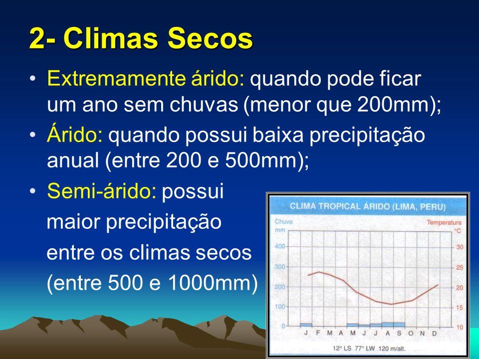 3- Climas Temperados Temperado Continental; Temperado Oceânico; Temperado Mediterrâneo.