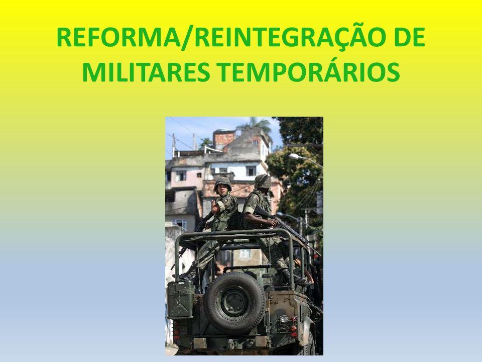 REFORMA MILITAR EX OFFÍCIO ADVOCACIA-GERAL DA UNIÃO PROCURADORIA REGIONAL DA UNIÃO NA 4ª REGIÃO COORDENAÇÃO DE ASSUNTOS MILITARES - CORESM ARTIGO 106, II do ESTATUTO MILITAR (LEI 6.880/80) - Incapaz definitivamente Incapaz definitivamente para o serviço militar ARTIGO 106, III do ESTATUTO MILITAR julgado incapaz, temporariamente agregado por mais de 2 (dois) anos por ter sido julgado incapaz, temporariamente, mediante homologação de Junta Superior de Saúde, ainda que se trate de moléstia curável