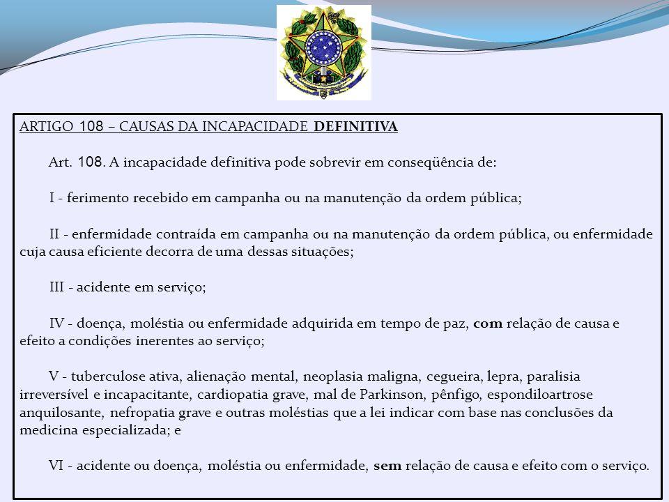 ARTIGOS 109 a 111 – DIFERENCIAÇÃO ENTRE AS CAUSAS E CORRELAÇÃO COM O TIPO DE REFORMA Art.
