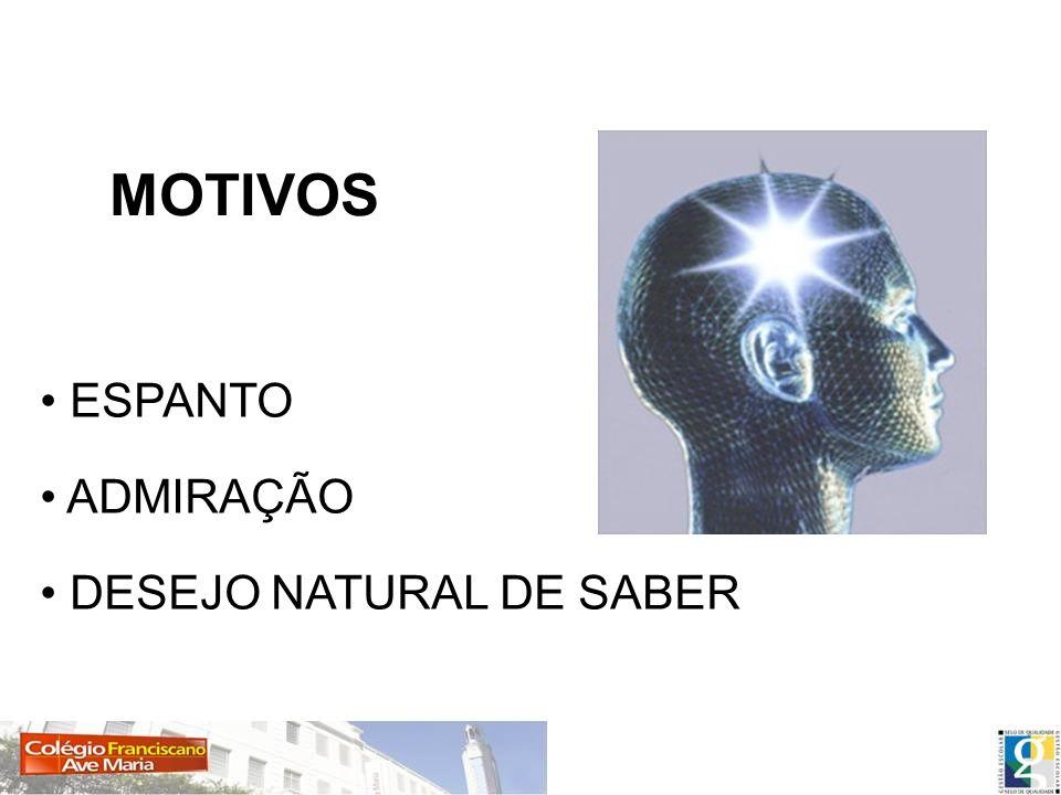 ESPANTO ADMIRAÇÃO DESEJO NATURAL DE SABER MOTIVOS