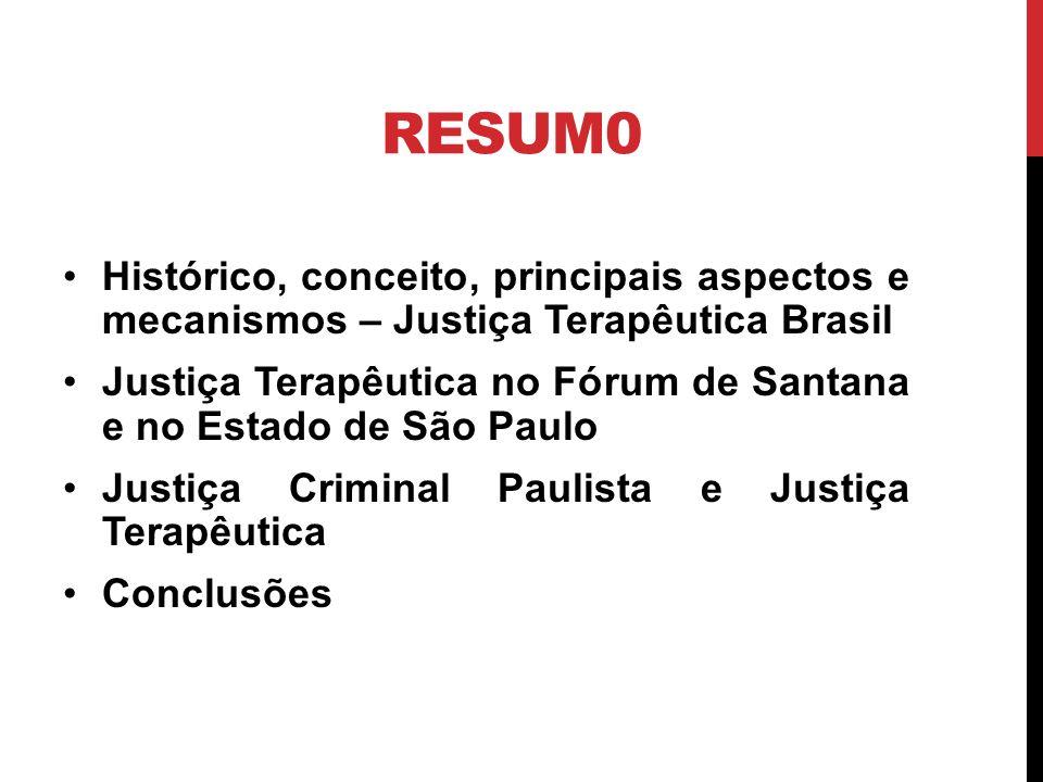 BREVE HISTÓRICO JUSTIÇA TERAPÊUTICA Primeiras atividades (R.G.