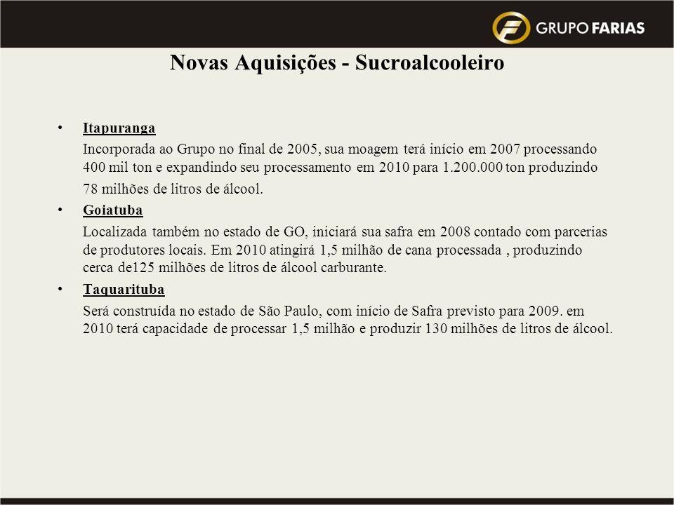 Visão 2010 do Grupo : atingir a Meta de 10 milhões de toneladas de cana processada … Qual a Previsão do Mercado para este mesmo período ??.