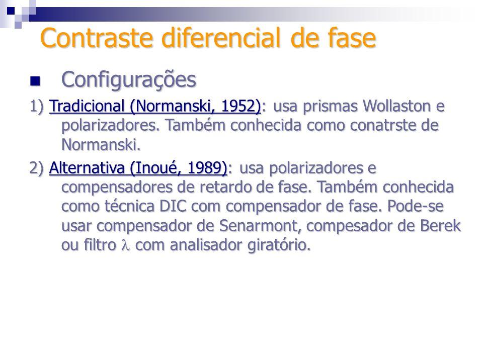 Técnicas e contraste Técnicas e contraste AmostraTécnicaContraste TransparenteCampo claro2-5% CoradaCampo claro25% TransparenteContraste de fase15-20% TransparenteContraste diferencial de interferência15-20% TransparenteCampo escuro60-75% TransparenteFluorescência60-75% Contraste diferencial de fase
