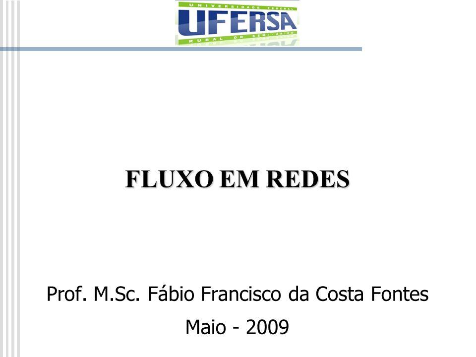 FLUXO EM REDES Prof. M.Sc. Fábio Francisco da Costa Fontes Maio - 2009