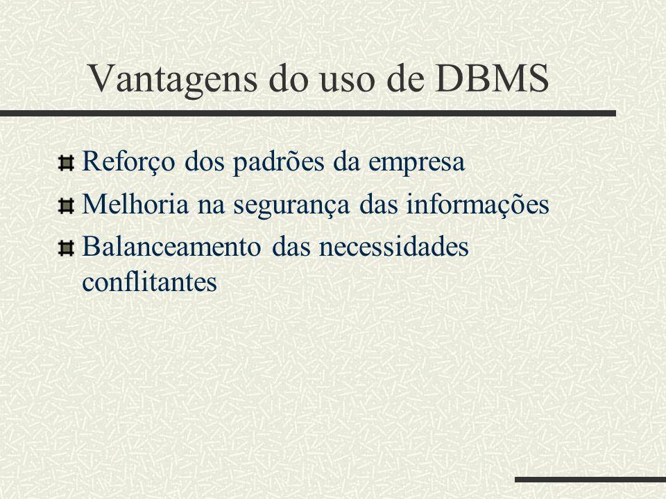 Objetos do DBMS
