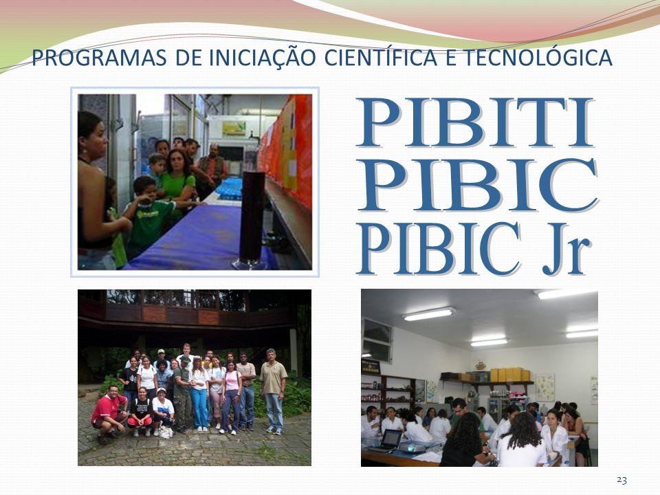 PROGRAMAS DE INICIAÇÃO CIENTÍFICA E TECNOLÓGICA 23