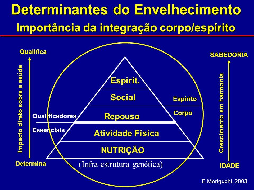 Saúde física I: Nutrição Alimentação saudável: muitas verduras, legumes e frutas - - deve ser a base da alimentação do idoso; - coma pelo menos 3 variedades por dia: ex.: tomate, brócole, feijão, maçã, etc.