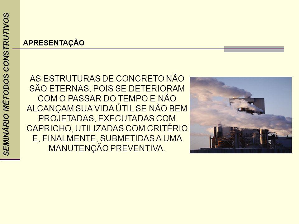 CASO CONTRÁRIO APRESENTARÃO ANOMALIAS E DEVERÃO SER RECUPERADAS PARA GARANTIR O PROLONGAMENTO DE SUA VIDA ÚTIL.