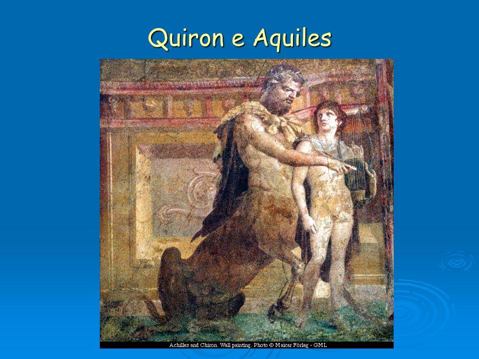 Quiron: centauro mestre de Esculápio e doente ele mesmo de chagas incuráveis, arquétipo da figura do médico-ferido.