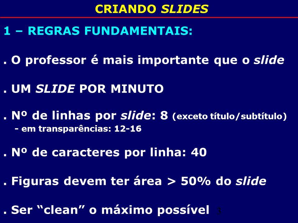 4 CRIANDO SLIDES 2 - FORMA: Retangular.