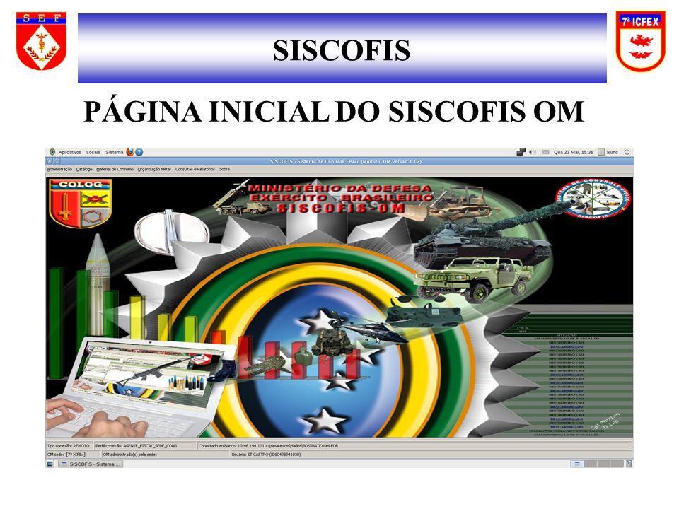 SISCOFIS PÁGINA INICIAL DO SISCOFIS OM
