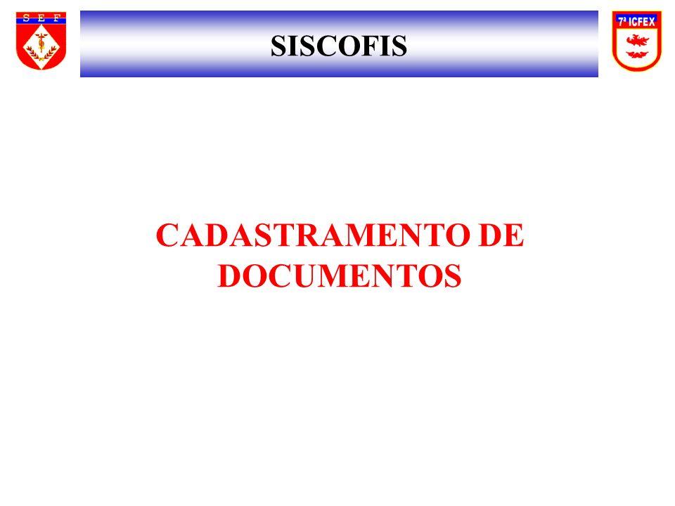 SISCOFIS CADASTRAMENTO DE DOCUMENTOS