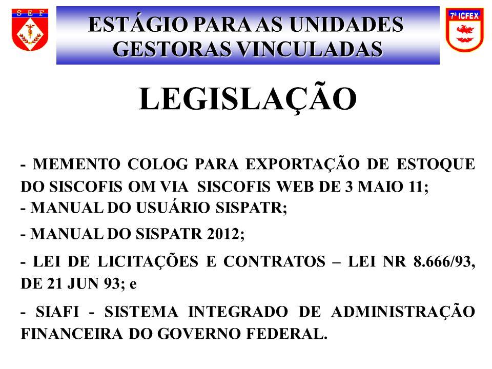 SISCOFIS FLUXOGRAMA DE ENTRADA DE MATERIAL NO SISCOFIS