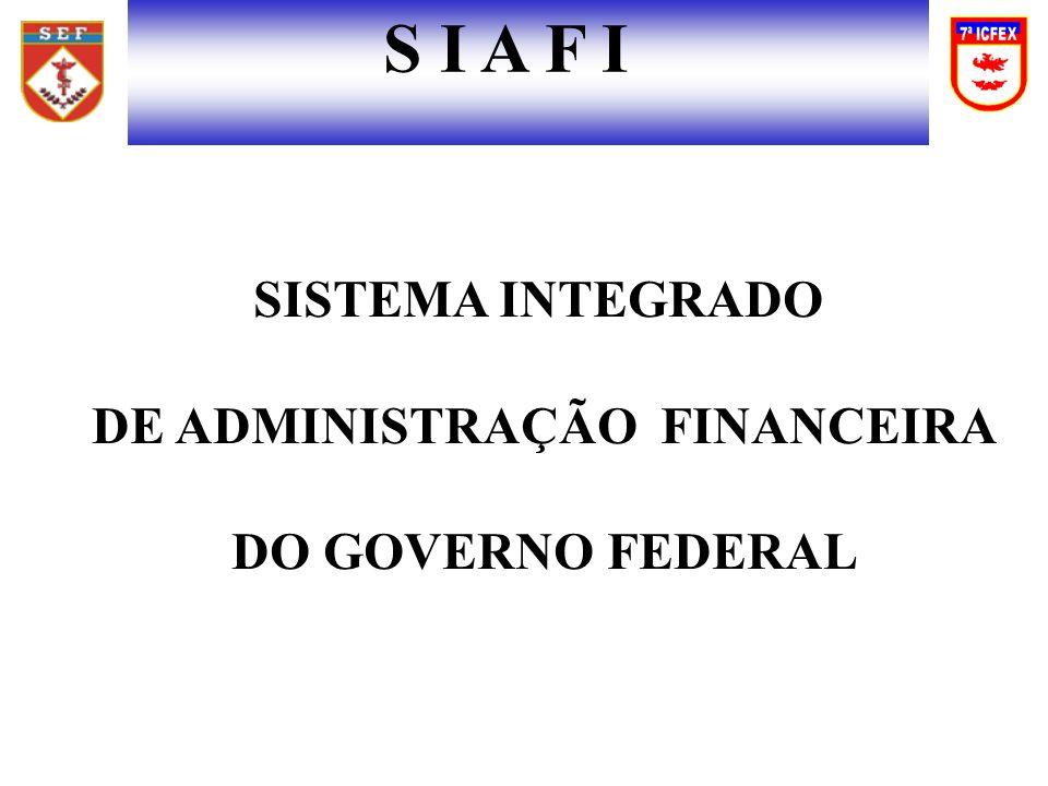 S I A F I SISTEMA INTEGRADO DE ADMINISTRAÇÃO FINANCEIRA DO GOVERNO FEDERAL