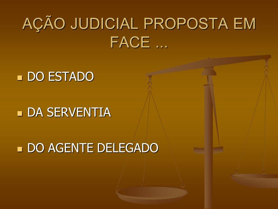 AÇÃO JUDICIAL PROPOSTA EM FACE... DO ESTADO DO ESTADO DA SERVENTIA DA SERVENTIA DO AGENTE DELEGADO DO AGENTE DELEGADO