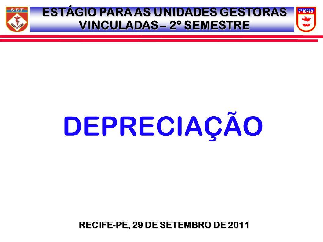 MENSAGENS CIRCULARES MSG SIAFI 2011/1084995, 02 AGO 11, MSG CIRCULAR 054/2011: 1) CUMPRINDO DETERMINAÇÃO DA DIRETORIA CONTABILIDADE (D CONT), SOLICITO A ESSE OD MANDAR ENVIAR, MENSALMENTE, VIA E-MAIL, PARA O ENDEREÇO 7ICFEXCHSECCONT@EB.MIL.BR, O ARQUIVO CONTENDO O RELATÓRIO SINTÉTICO DE DEPRECIAÇÃO, GERADO NO SISCOFIS, CORRESPONDENTE AO LANÇAMENTO, NO SIAFI, DA NOTA DE LANÇAMENTO(NL) DA DEPRECIAÇÃO MENSAL, EXECUTADO POR ESSA UG.7ICFEXCHSECCONT@EB.MIL.BR