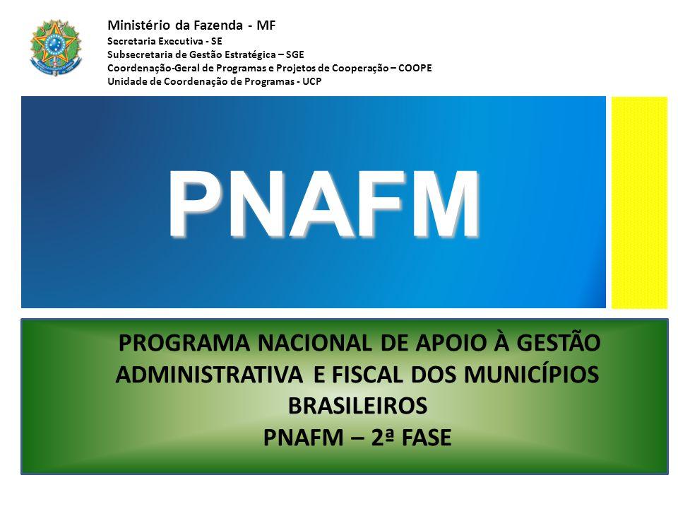 Ministério da Fazenda - MF Secretaria Executiva - SE Subsecretaria de Gestão Estratégica – SGE Coordenação-Geral de Programas e Projetos de Cooperação