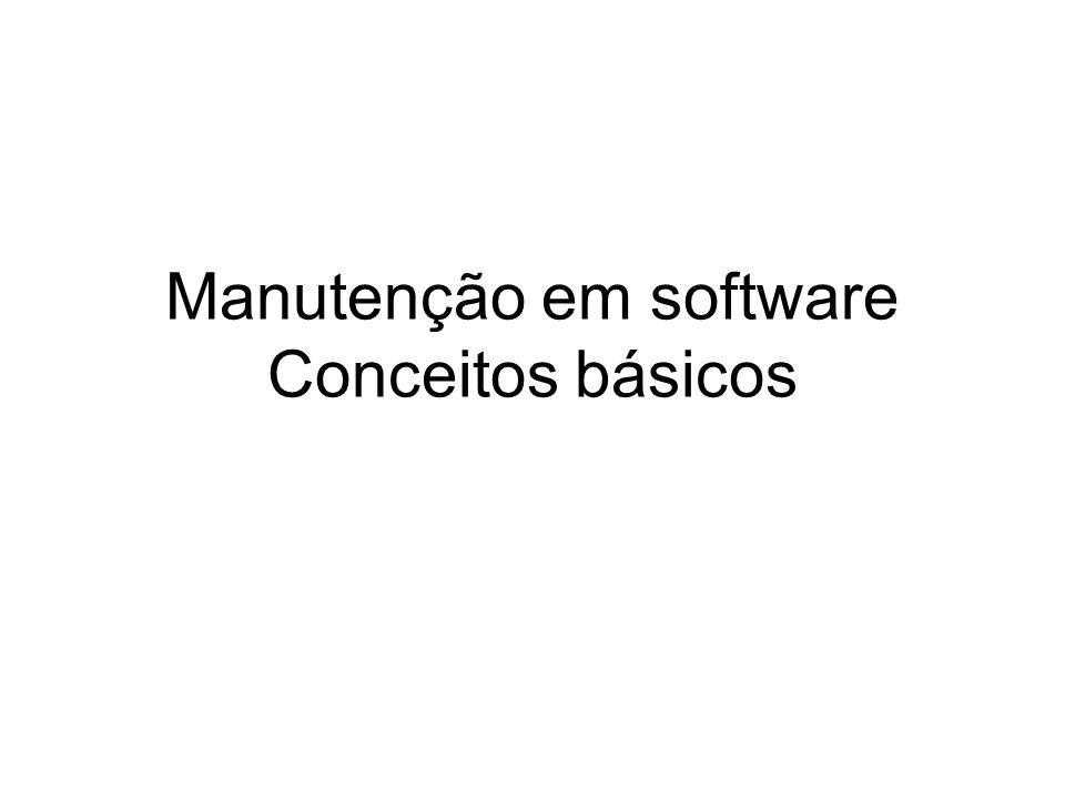 Gerenciamento de configuração: Durante o processo de manutenção são criadas muitas versões do software Configuração: relação entre versões de um objeto composto, ou seja, configuração é uma instância do sistema composta da união de uma versão específica de cada objeto componente.