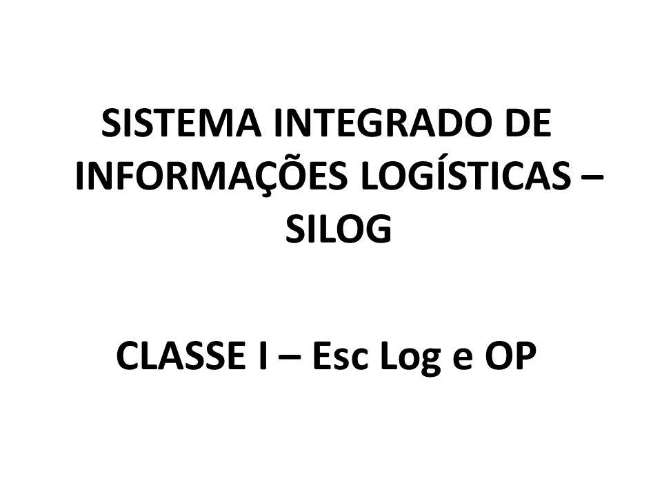 SISTEMA INTEGRADO DE INFORMAÇÕES LOGÍSTICAS – SILOG CLASSE I – Esc Log e OP