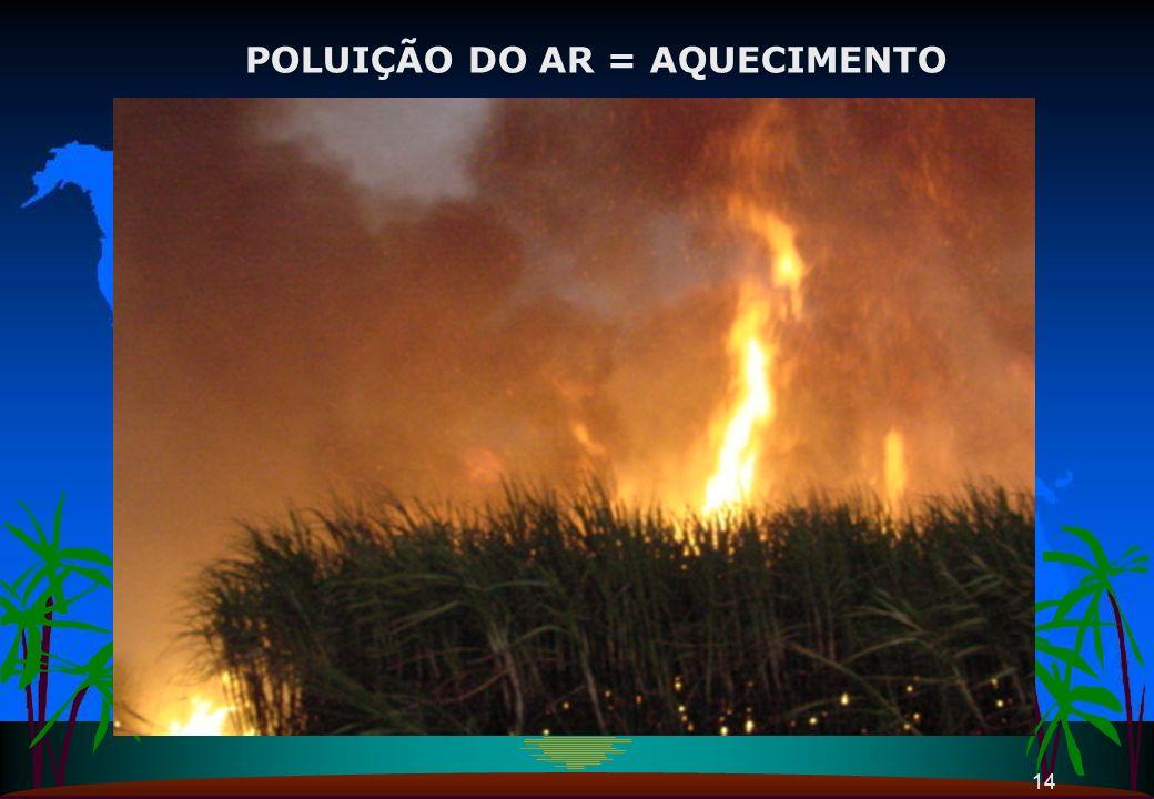 14 POLUIÇÃO DO AR = AQUECIMENTO