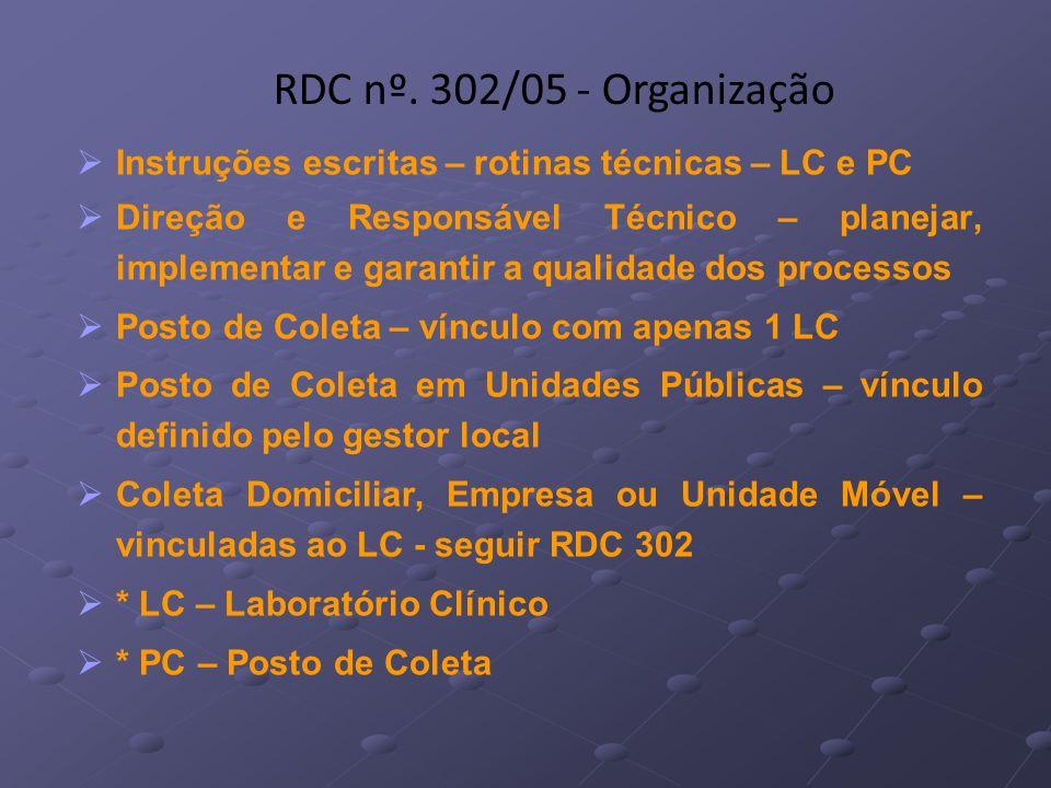 Instruções escritas – rotinas técnicas – LC e PC Direção e Responsável Técnico – planejar, implementar e garantir a qualidade dos processos Posto de C