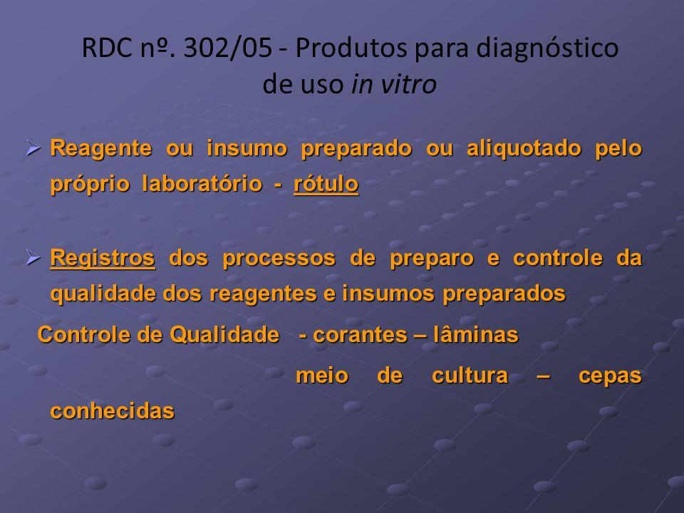 Reagente ou insumo preparado ou aliquotado pelo próprio laboratório - rótulo Reagente ou insumo preparado ou aliquotado pelo próprio laboratório - rót