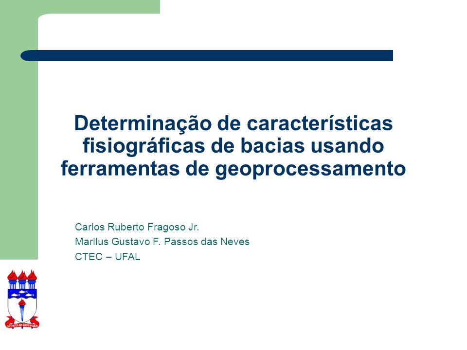 Tópicos O que é Geoprocessamento O que é um SIG Importância do Geoprocessamento em Recursos Hídricos Noções de cartografia O MapWindow Aprendendo a usar o MapWindow Ferramentas de Hidrologia no MapWindow Exercício para Bacia do rio Paraíba