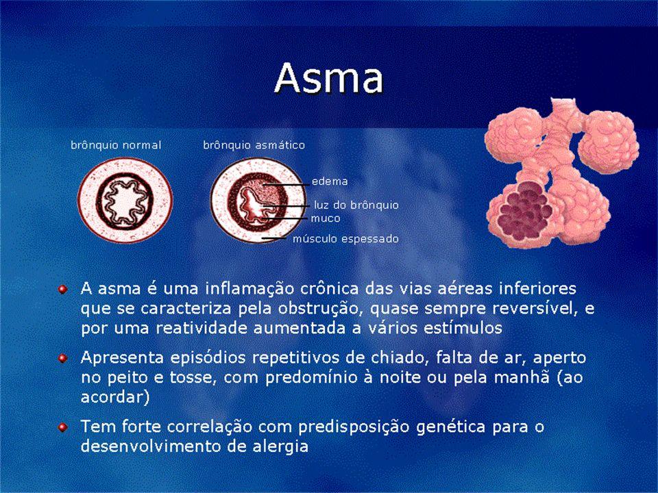 Corticosteróide Inalatórios - 3,1% 2 Aerossol dosimetrado 12,5% 2 Solução 8,6% 2 oral 40,2% Brometo Ipratrópio 6,9% Cromonas 0,5% Cetotifeno 2,8% Xantinas 25,3% Vendas de medicamentos utilizados para asma em unidades - Brasil - 1997 Solé et al, 1999 Fonte: IMS/PMB, 1999