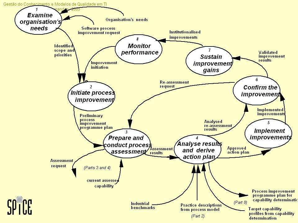 Gestão do Conhecimento e Modelos de Qualidade em TI Jorge H C Fernandes, 2005