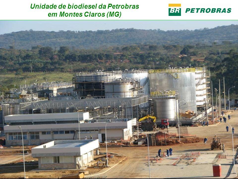 Unidade de biodiesel da Petrobras em Montes Claros (MG)