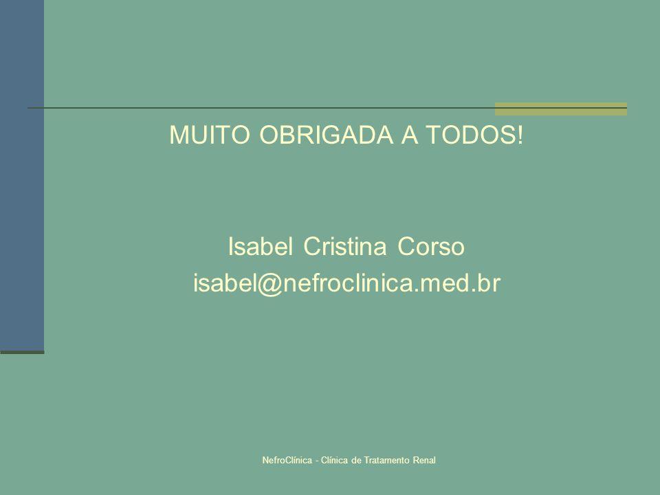 NefroClínica - Clínica de Tratamento Renal MUITO OBRIGADA A TODOS! Isabel Cristina Corso isabel@nefroclinica.med.br